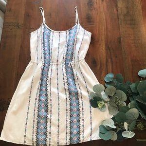 LOFT Sleeveless Dress in Vertical Pattern